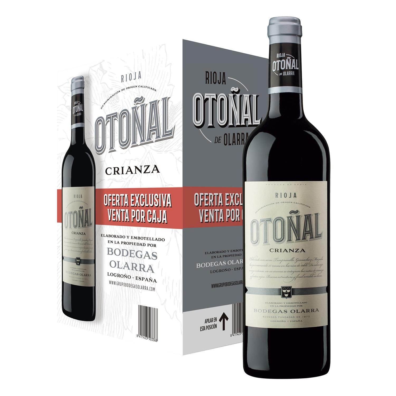 Estuche de vino D.O. Rioja tinto crianza Otoñal pack de 6 botellas de 75 cl.