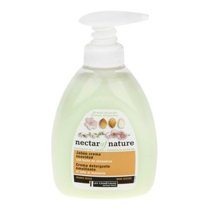 Jabón de manos  con leche de almendras Les Cosmétiques Néctar of Beauty 300 ml.