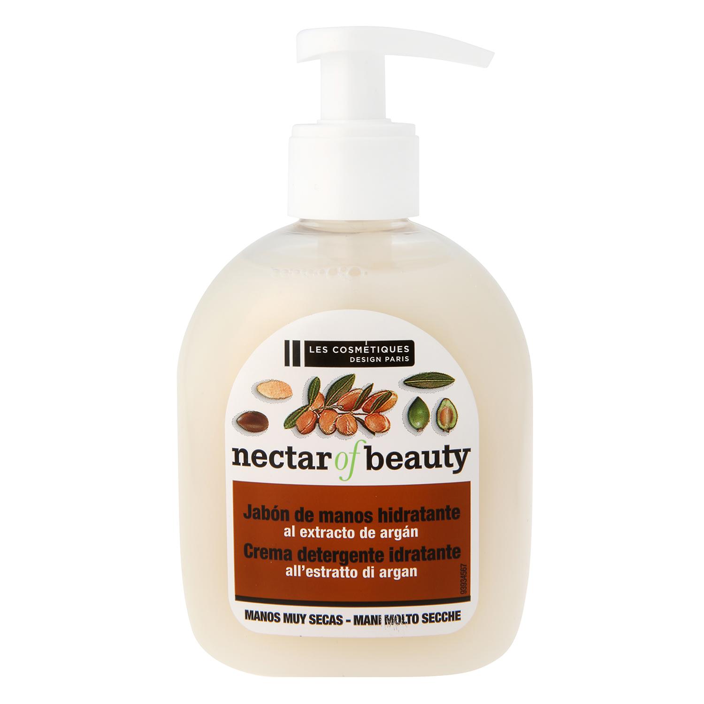 Jabón crema hidratante con aceite de argán Les Cosmétiques Néctar of Beauty 300 ml.