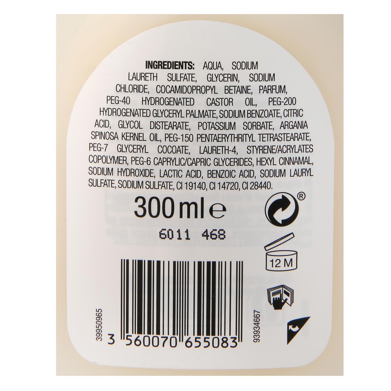 Jabón crema hidratante con aceite de argán Les Cosmétiques Néctar of Beauty 300 ml. -