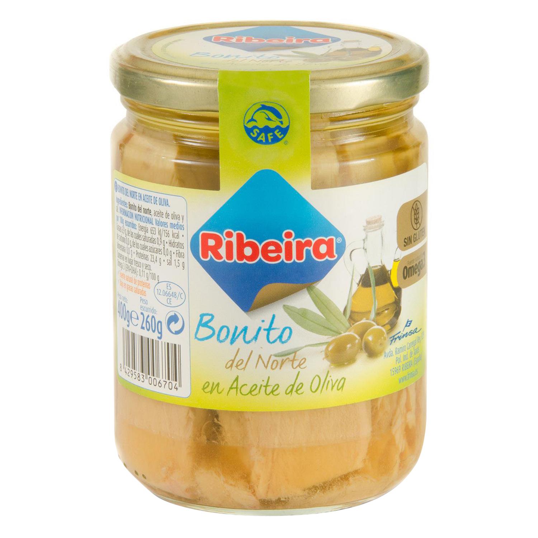 Bonito del norte en aceite de oliva Riberia 260 g.