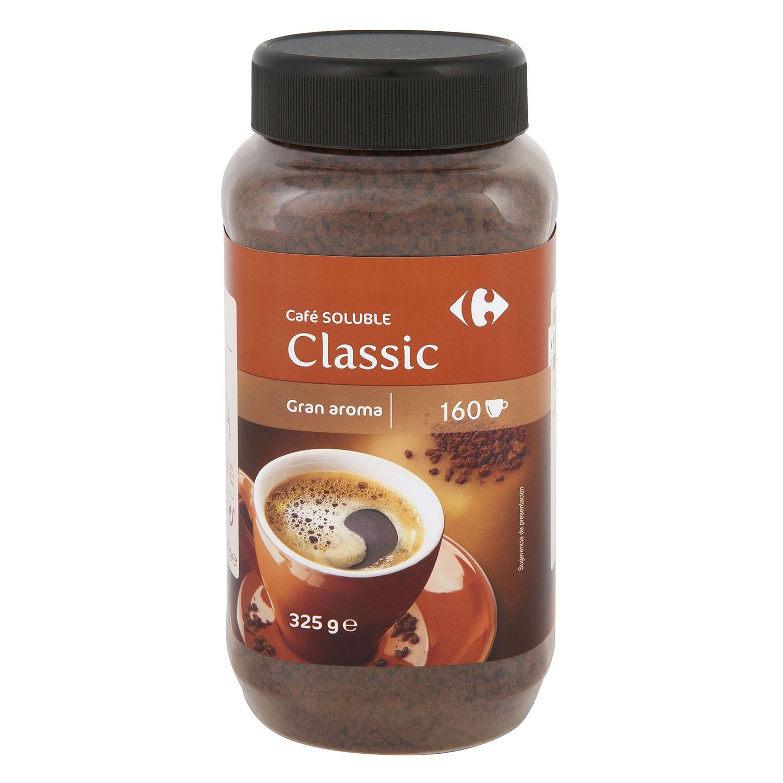 Café soluble natural classic Carrefour 325 g.