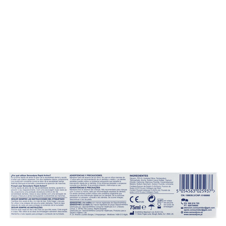 Dentífrico para dientes sensibles Rapid Sensodyne 75 ml. - 2