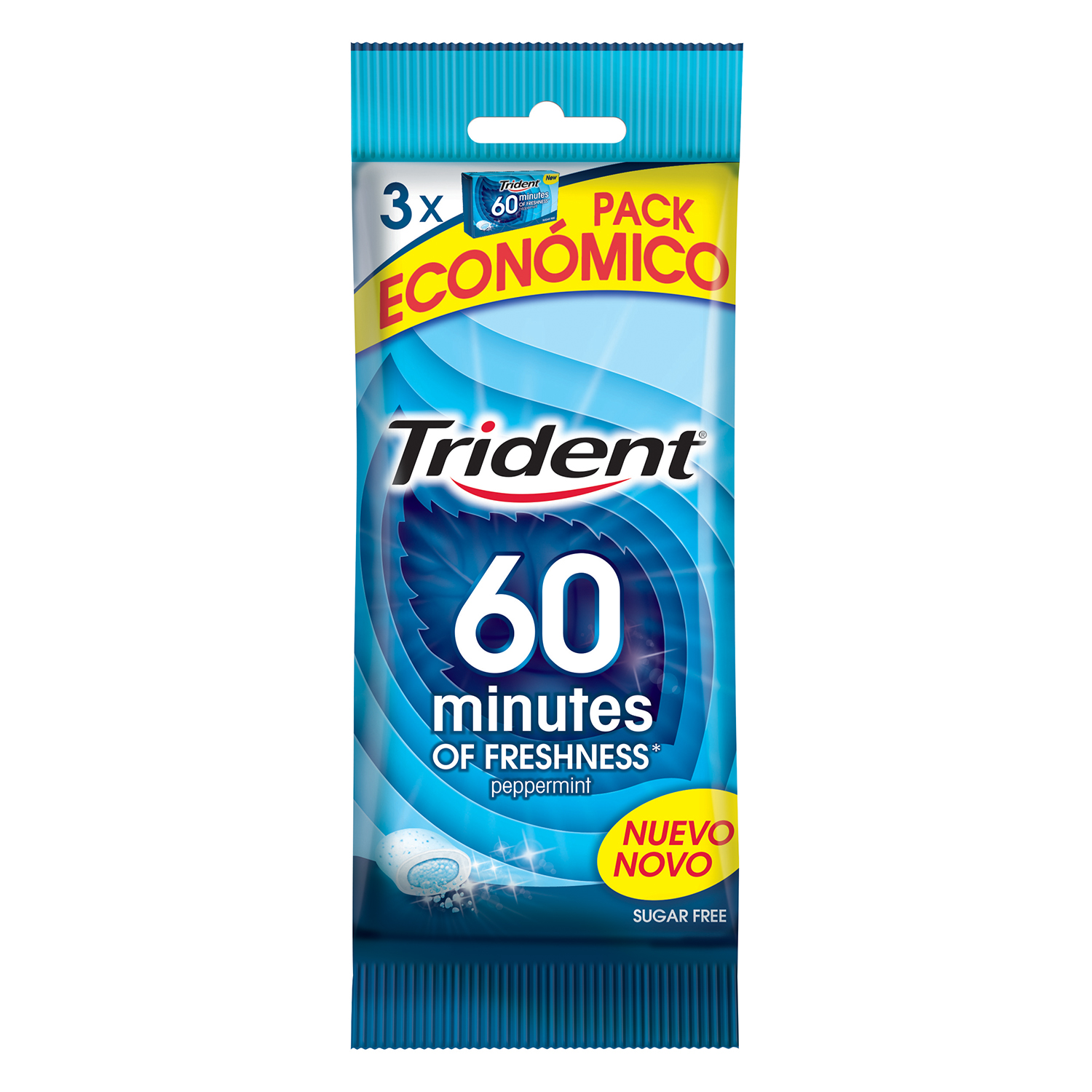 Chicle 60 minutos menta