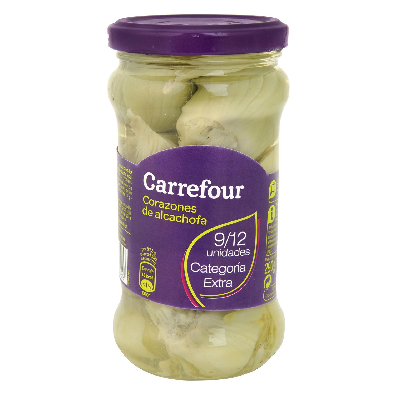 Corazones de alcachofas 9/12 unidades Carrefour 165 g.