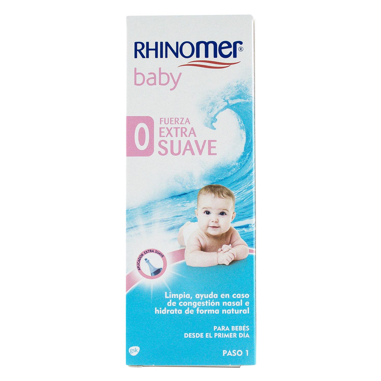Cuidado de las fosas nasales 0 Fuerza Extra Suave para bebés Rhinomer 115 ml.