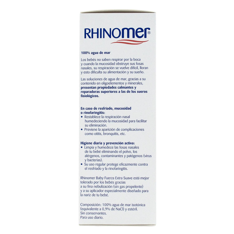 Cuidado de las fosas nasales 0 Fuerza Extra Suave para bebés Rhinomer 115 ml. - 2