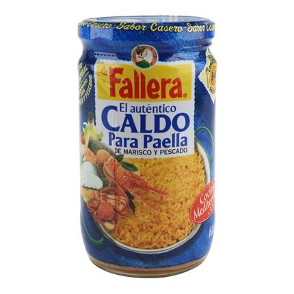 Caldo para paella de marisco y pescado La Fallera 600 ml.