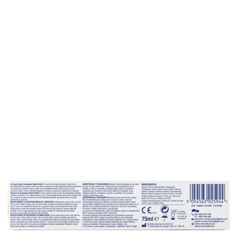Dentífrico para dientes sensibles Rapid Blanqueante Sensodyne 75 ml. - 2