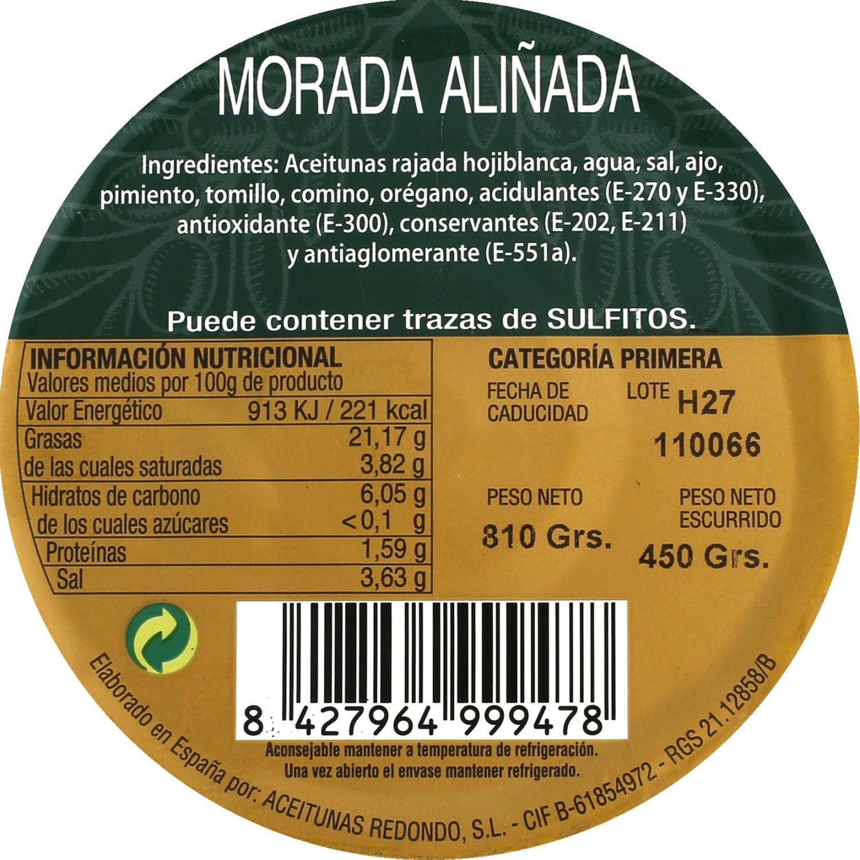 Aceituna morada aliñada Aperitivo 450 g - 3