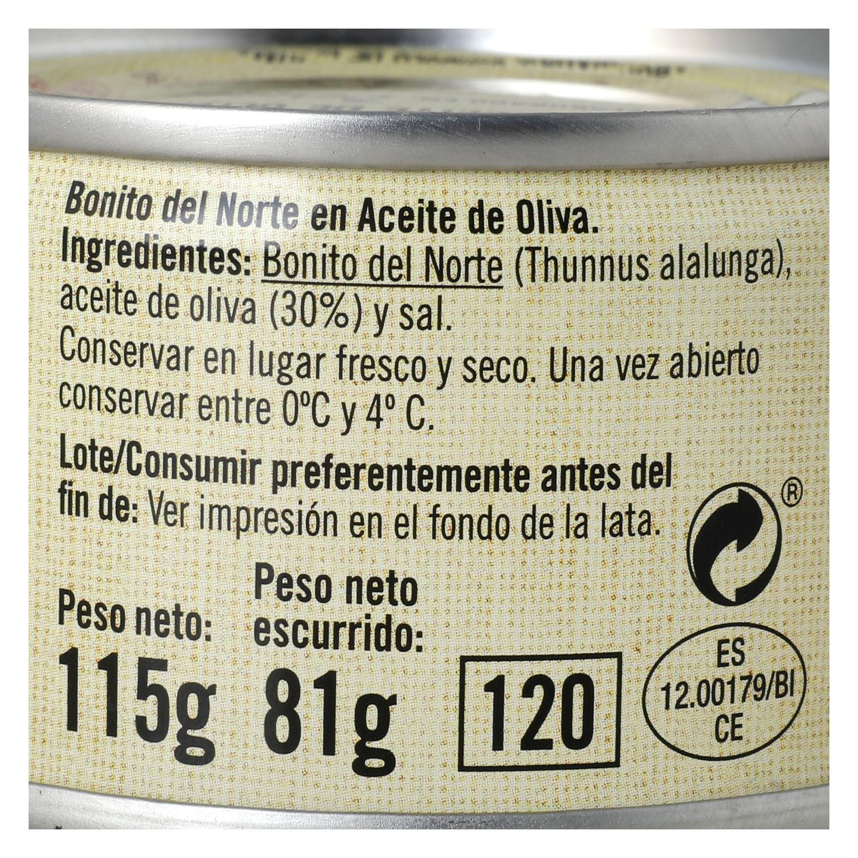 Bonito del Norte en aceite de oliva De Nuestra Tierra 85 g. - 3