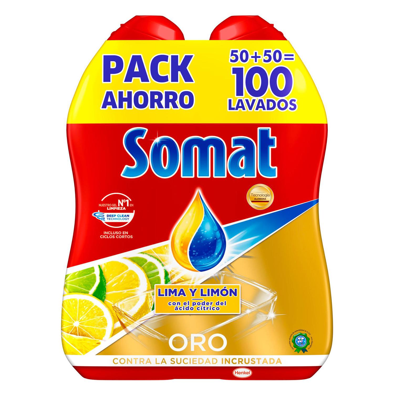 Gel lavavajillas Oro lima y limón