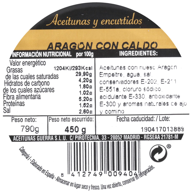 Aceituna negra Aragón tarro 450 g - 3