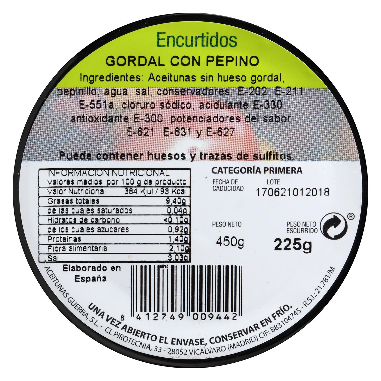Aceitunas gordal con pepino - 2
