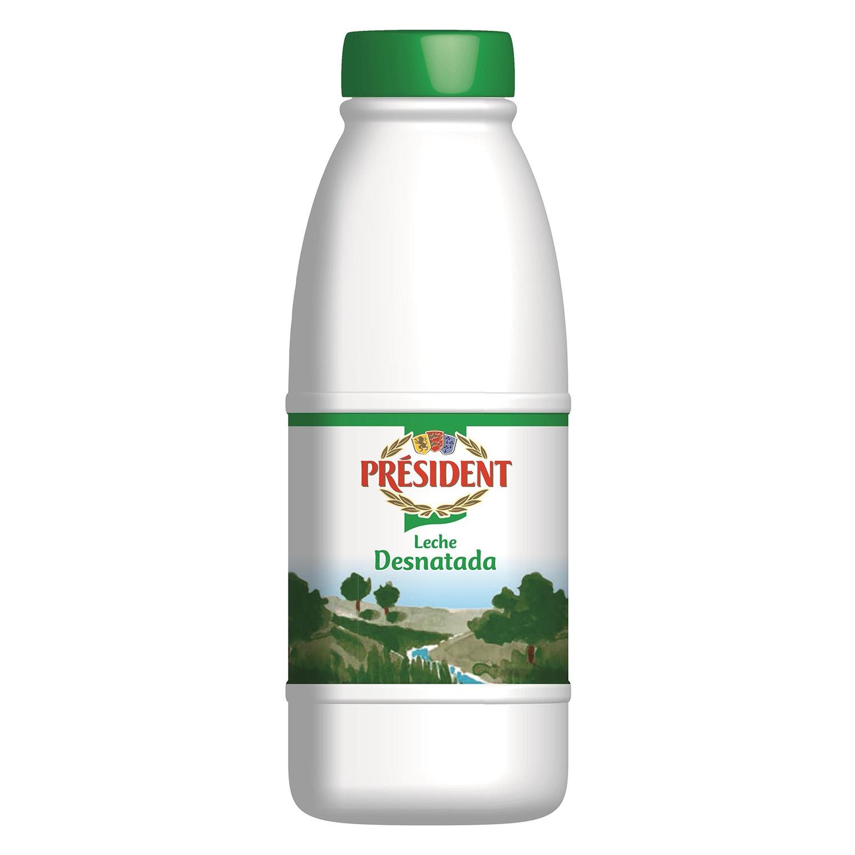 Leche desnatada Président botella 1,5 l.