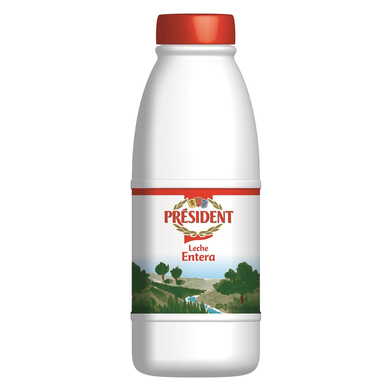 Leche entera Président botella 1,5 l.