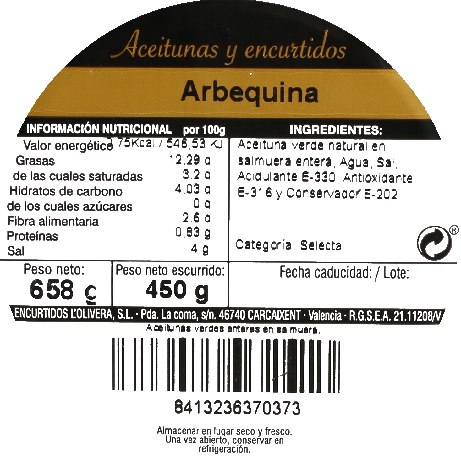 Aceitunas arbequinas Aperitivo 450 g - 3