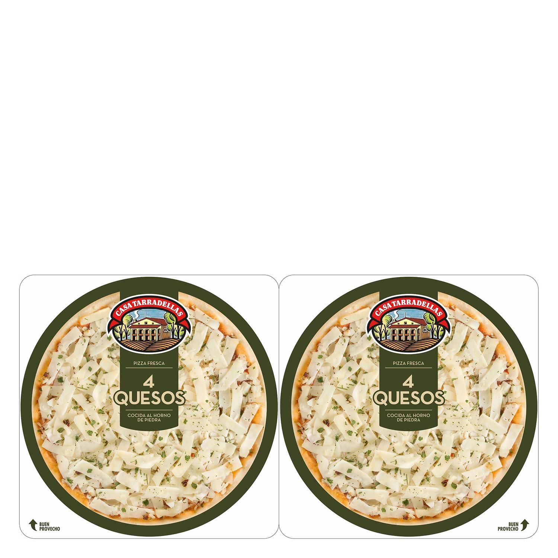 Pizza cuatro quesos Casa Tarradellas pack de 2 unidades de 210 g.