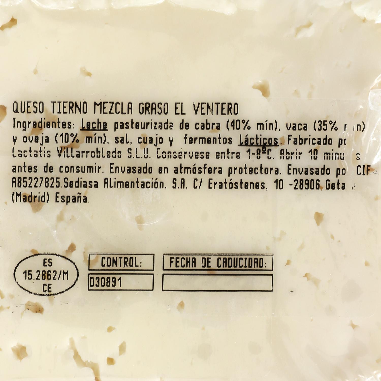 Queso tierno El Ventero 375 g aprox - 2