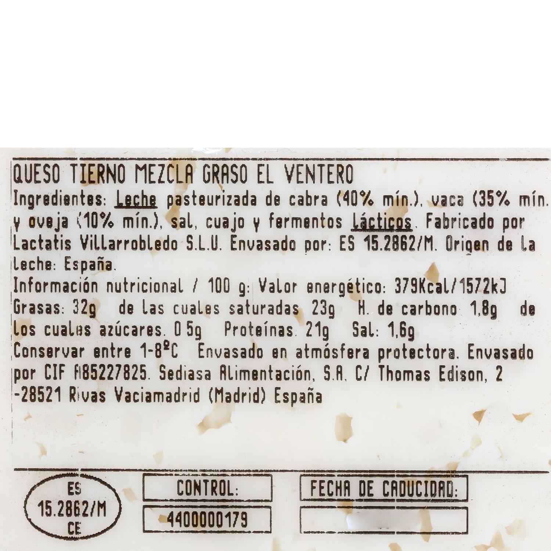 Queso tierno El Ventero 375 g aprox - 3
