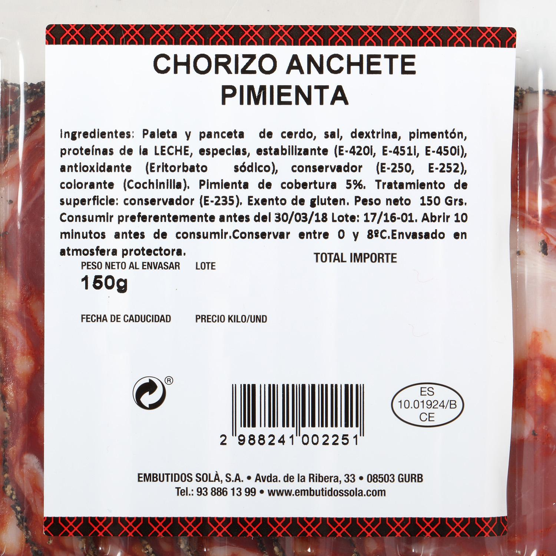 Chorizo anchete pimienta - 2