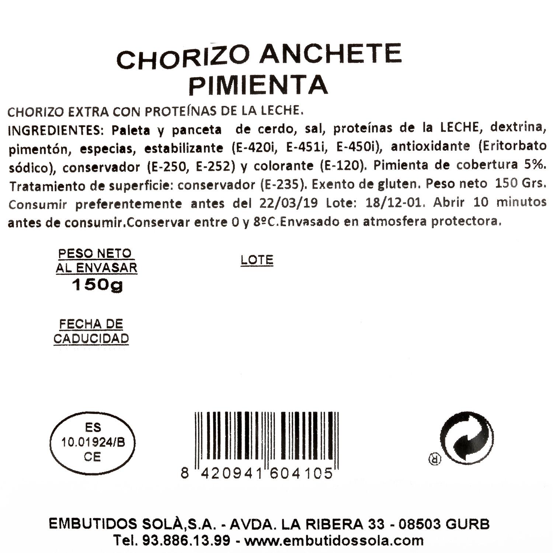 Chorizo anchete pimienta - 3