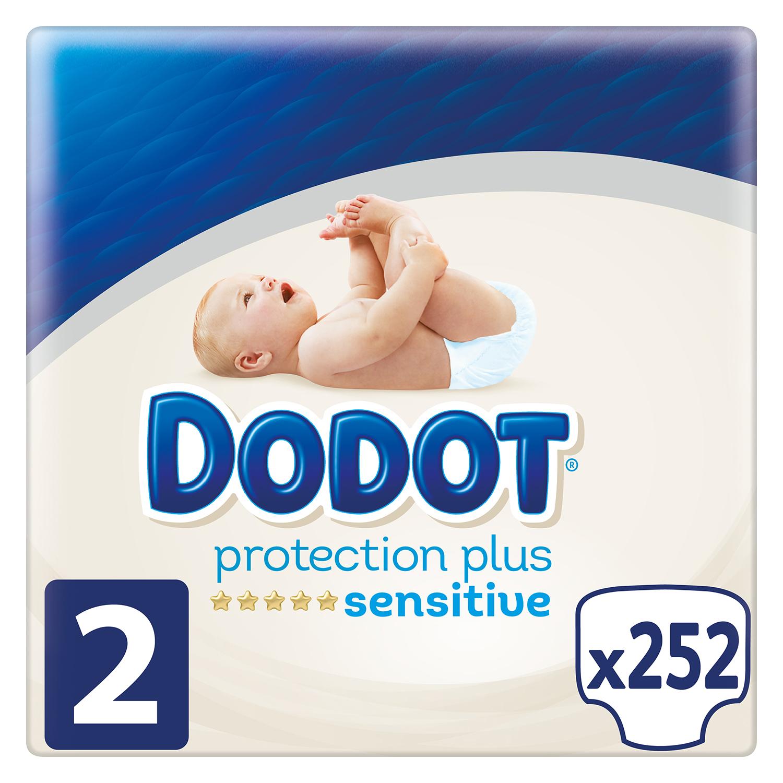 Pañales Dodot Sensitive T2 (4kg-8kg.) 252 ud. -