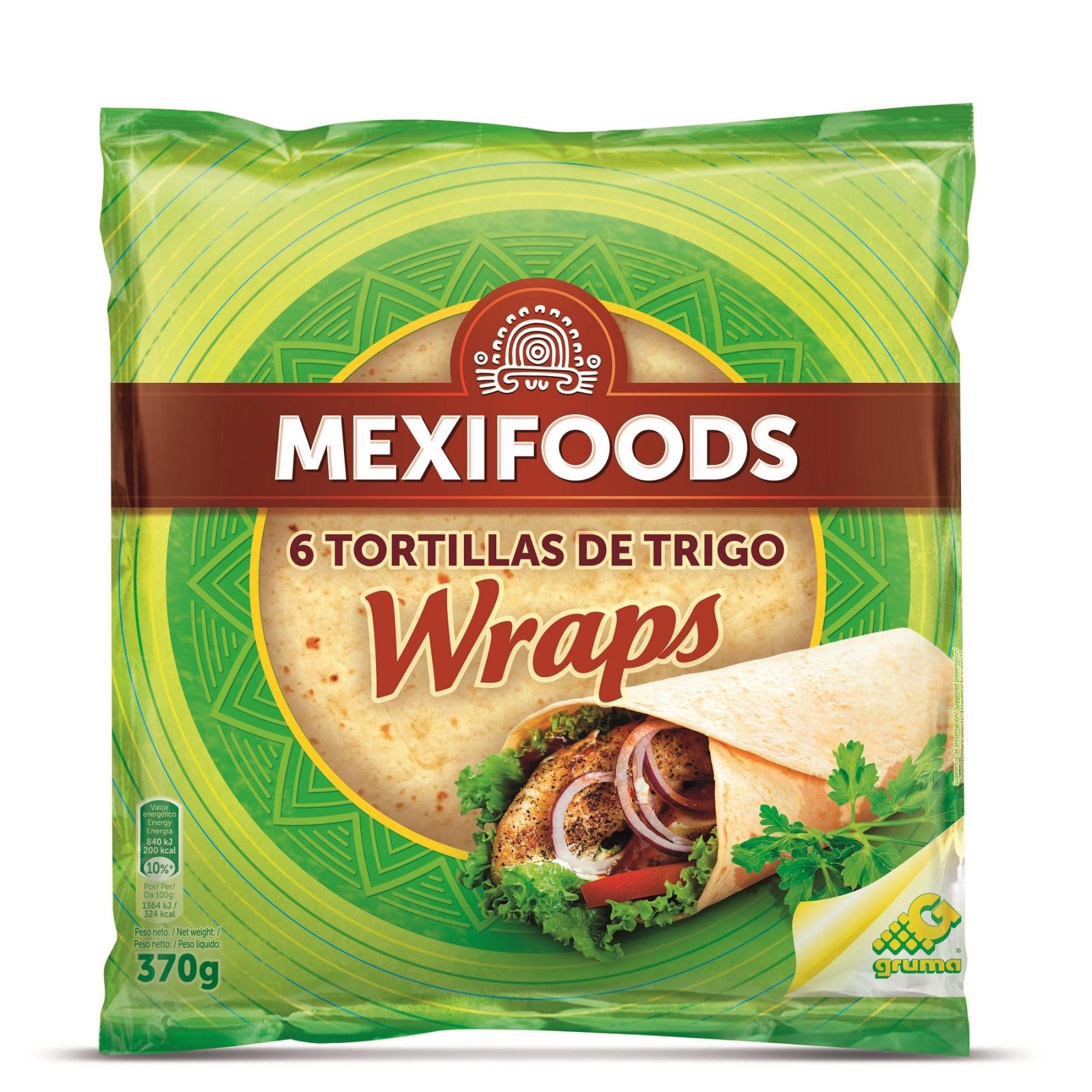 Tortillas de trigo Wraps Mexifoods 6 ud.