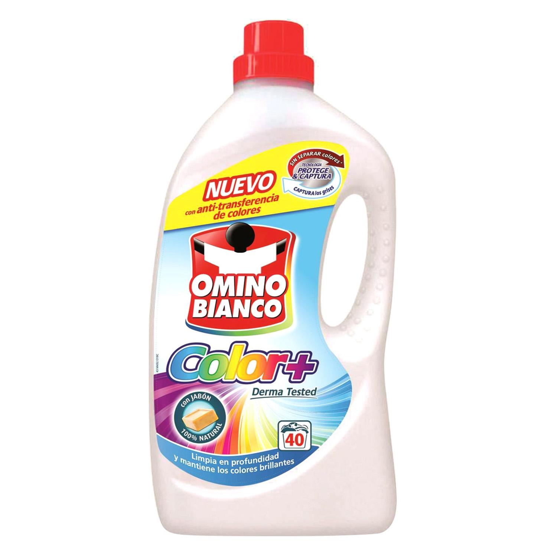 Detergente líquido color Omino Bianco 40 lavados.