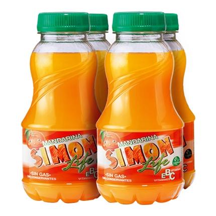 Zumo de mandarina Simon Life pack de 4 botellas de 20 cl.