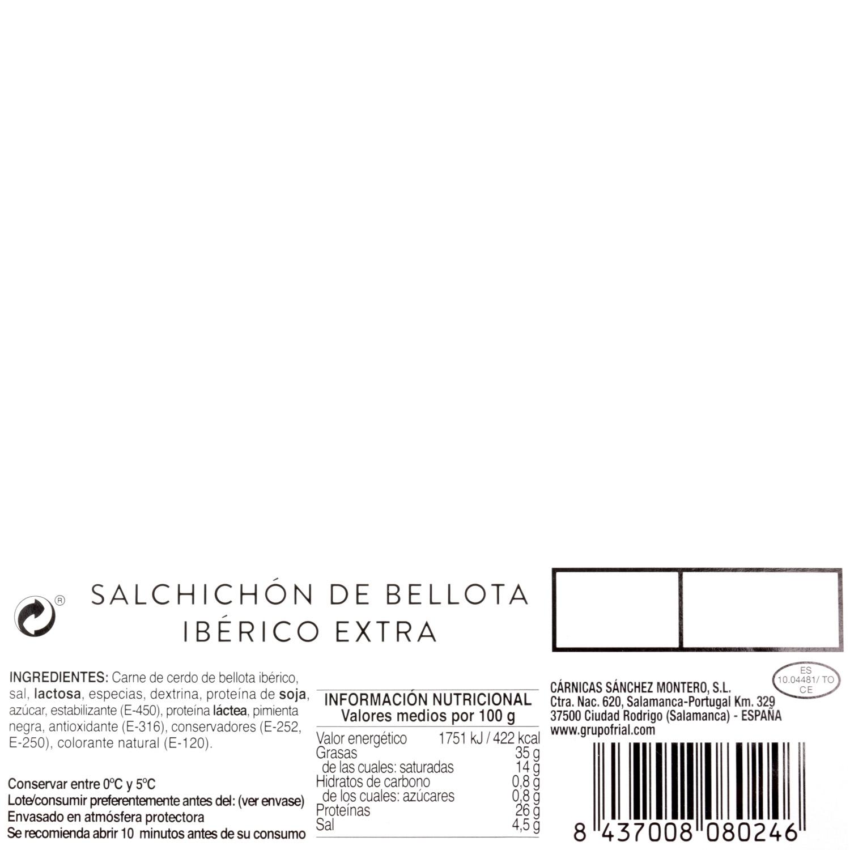Salchichón ibérico de bellota loncheado Sánchez Montero 100 g - 3