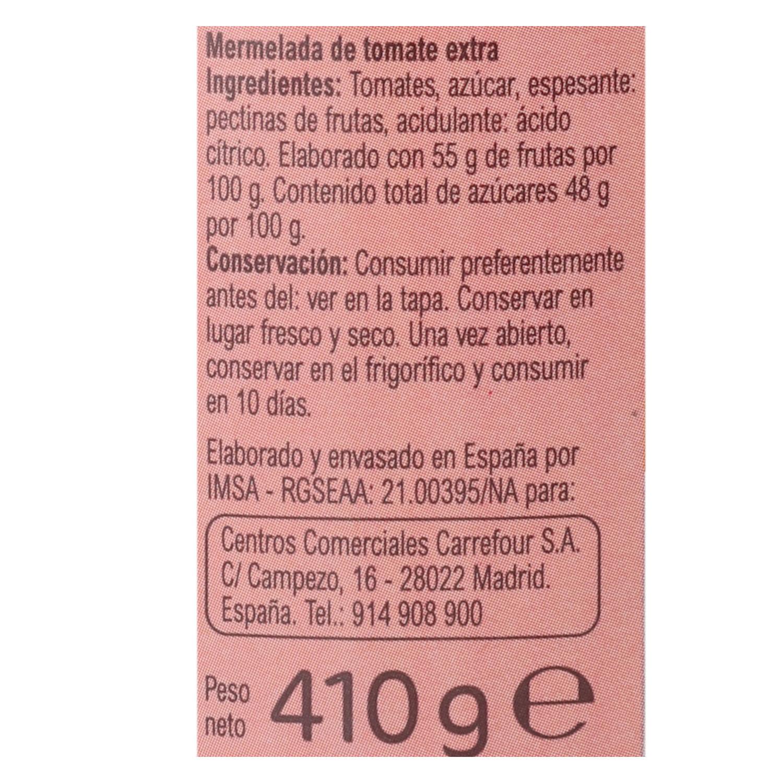 Mermelada de tomate categoría extra Carrefour sin gluten 410 g. - 2