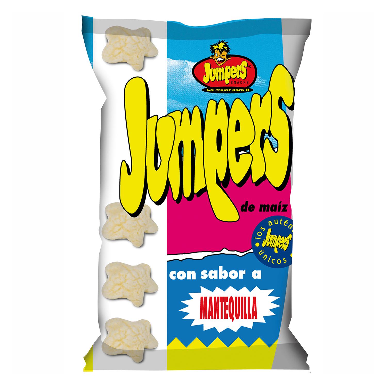 Aperitivo sabor mantequilla Jumpers 100 g.