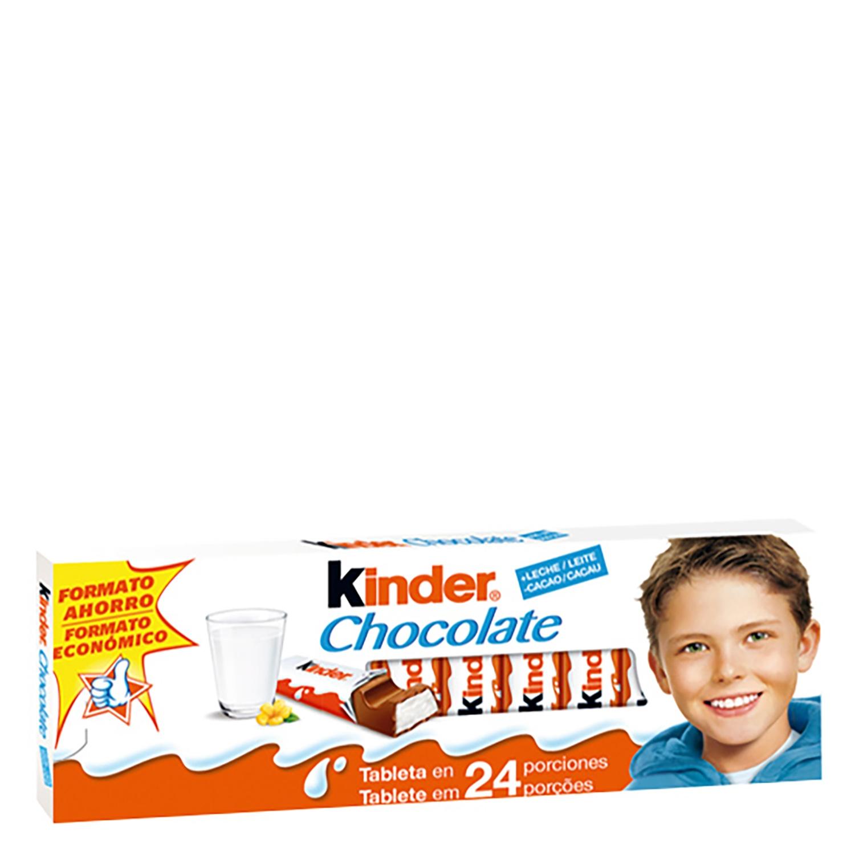 Barritas de chocolate con leche Kinder sin gluten 300 g.