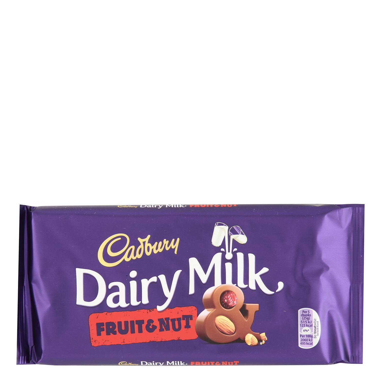 Tableta de chocolate con leche, avellanas y pasas
