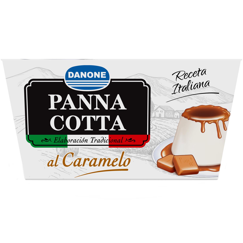 Panna cotta al caramelo Danone pack de 4 unidades de 100 g. -