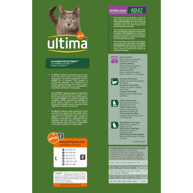 Alimento Gato Seco Adulto Esterilizado Salmon - 2