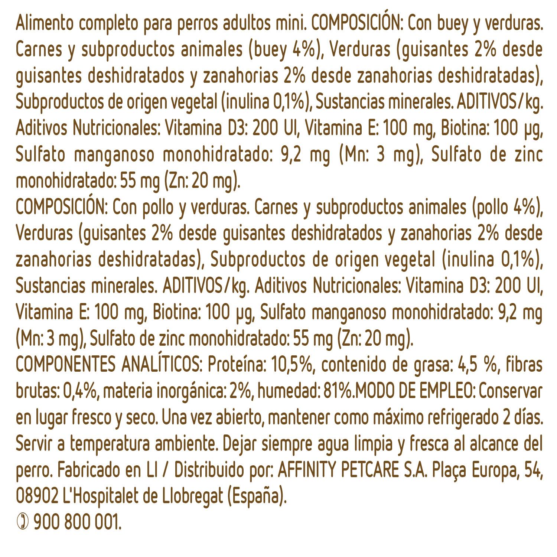 Ultima Comida Húmeda para Perros Mini Adultos Sublime 4x150gr. - 3