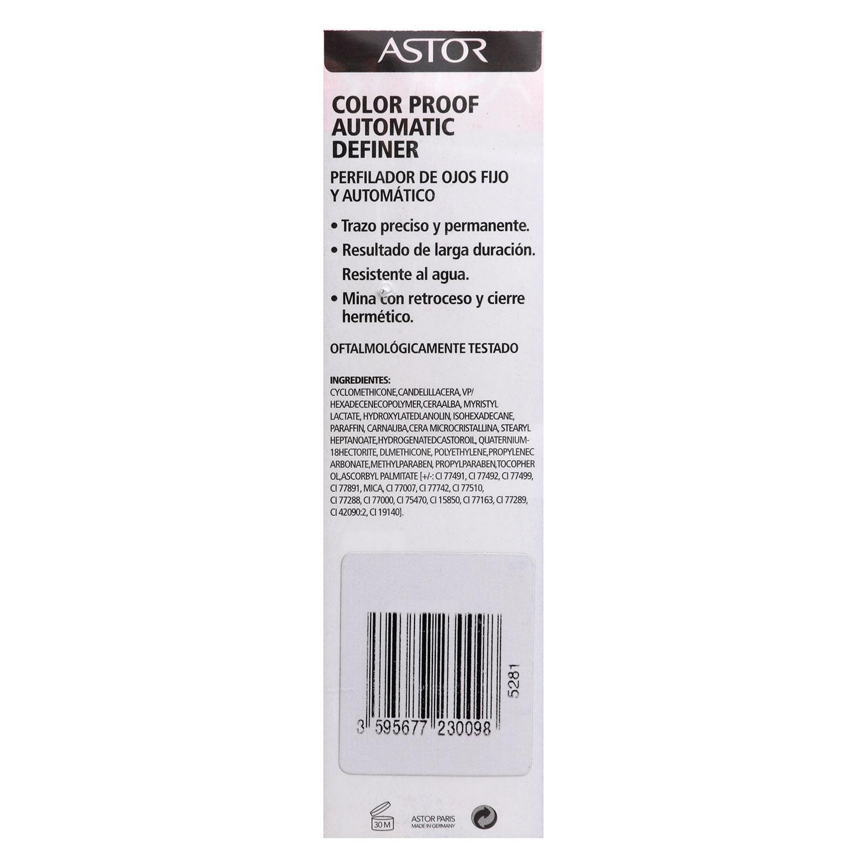 Eye liner pencil negro trazo preciso y permanente - automatic definer nº009 -
