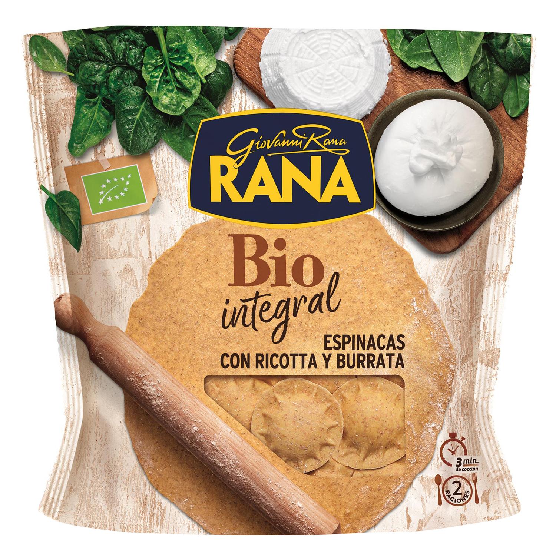 Soles integrales de espinacas y burrata ecológicos Rana 250 g.