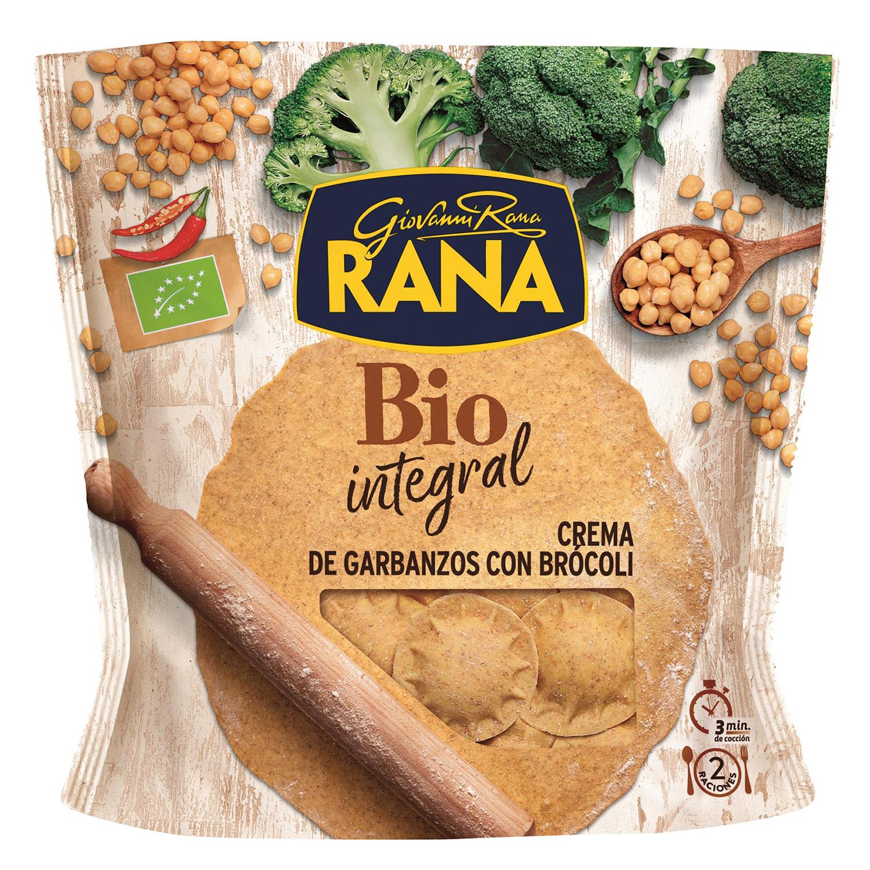 Soles de crema de garbanzos y brócoli ecológicos Rana integrales 250 g.