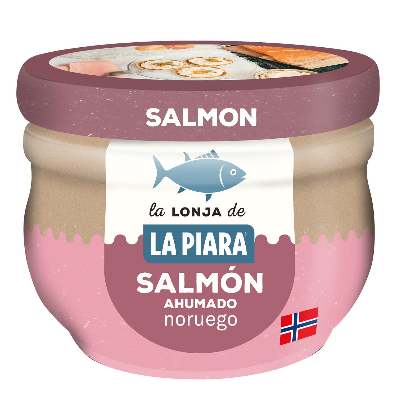 Crema de salmón ahumado escocés para untar La Piara 100 g.