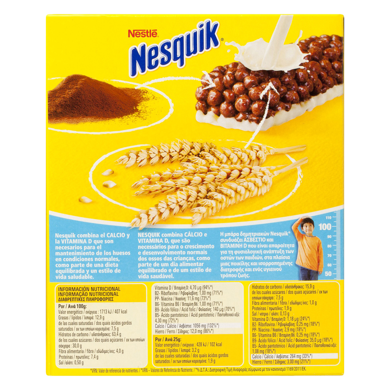 Barritas de cereales y leche Nesquik Nestlé 150 g. - 2