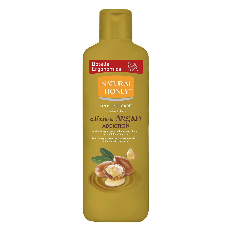 Gel de ducha elixir de argán Natural Honey 650 ml.