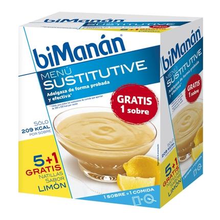 Natilla sabor limón en sobres