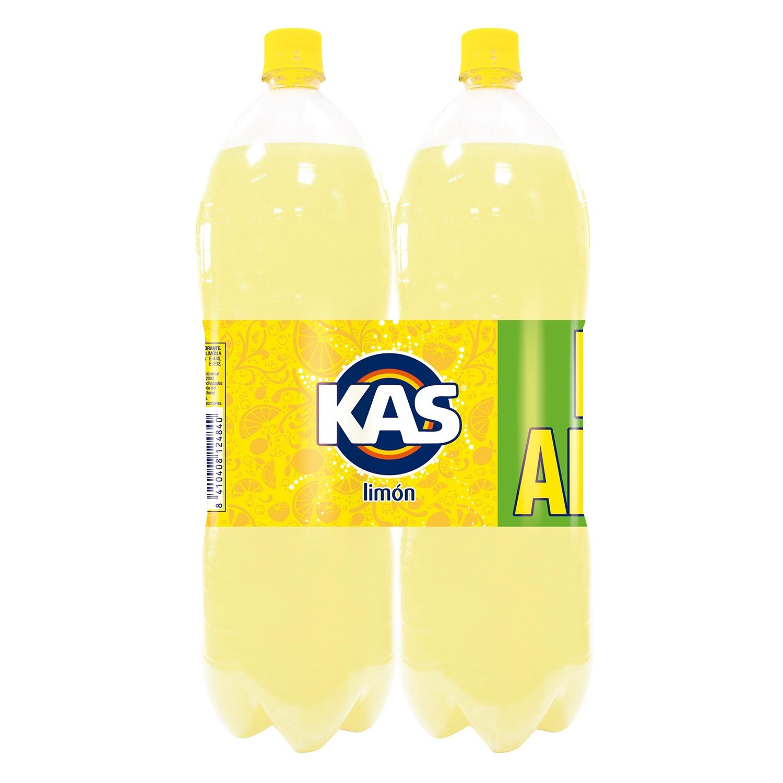 Refresco de limón Kas con gas pack de 2 botellas de 2 l.