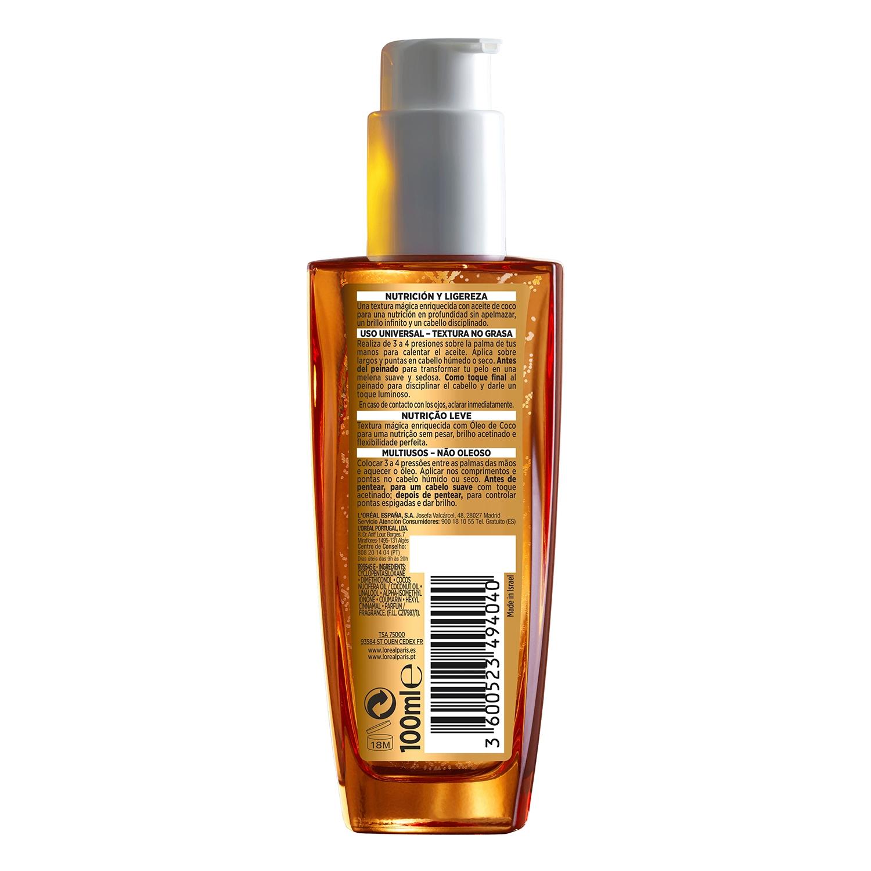 Aceite con aceite de coco L'Oréal Elvive 100 ml. -