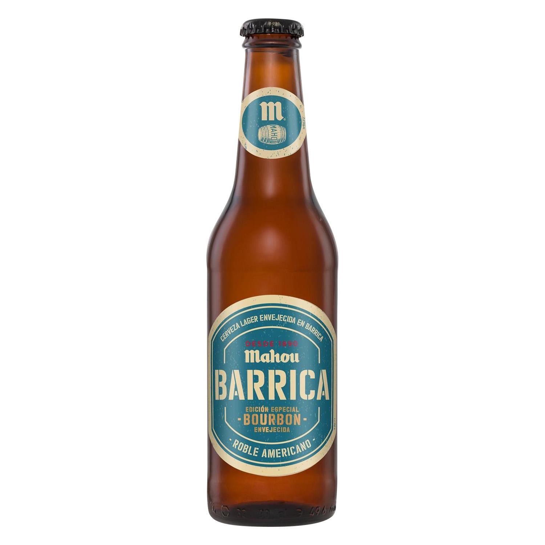 Cerveza Mahou Barrica Bourbón botella 33 cl.