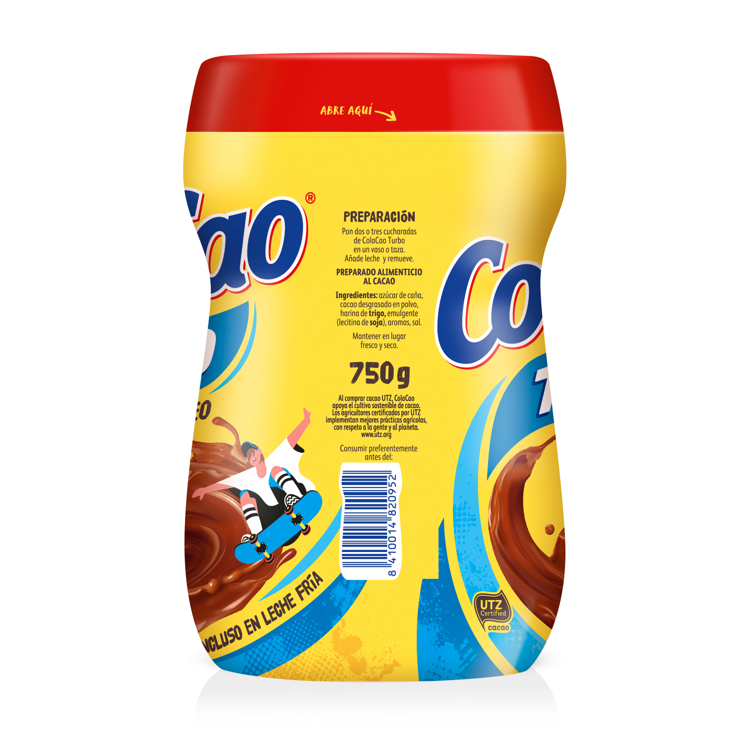 Cacao soluble instantáneo Cola Cao Turbo 750 g. -