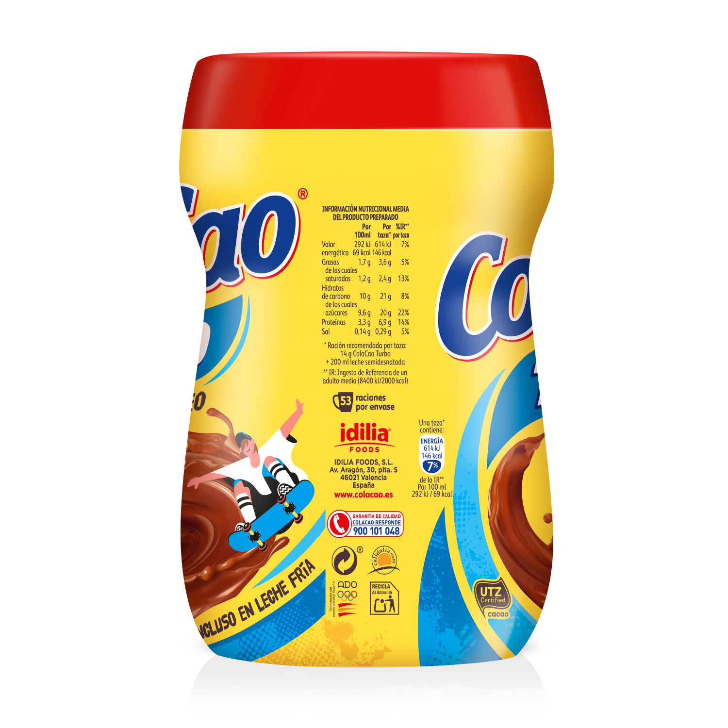 Cacao soluble instantáneo Cola Cao Turbo 750 g. - 2